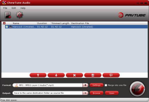 chewtune audio importing interface
