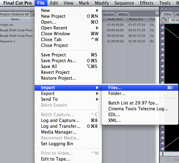 how to save a video project on final cut pro