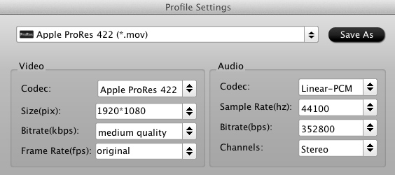 video converter settings prores Final Cut Pro   Import 1080p AVCHD MTS videos from Canon XA10?