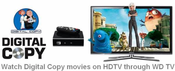 playing digital copy movies via WD TV