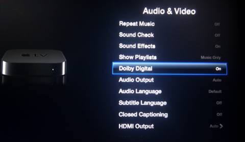 How to set up Apple TV for streaming HD videos with Dolby