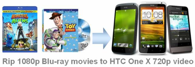 rip blu-ray to htc one x