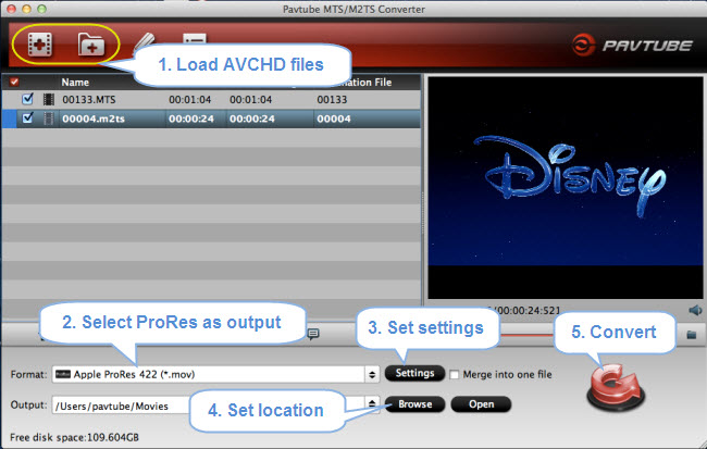 convert avchd to prores 422
