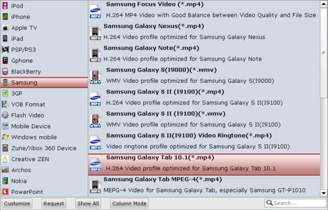 itunes movie converter for galaxy tablet 2 10.1