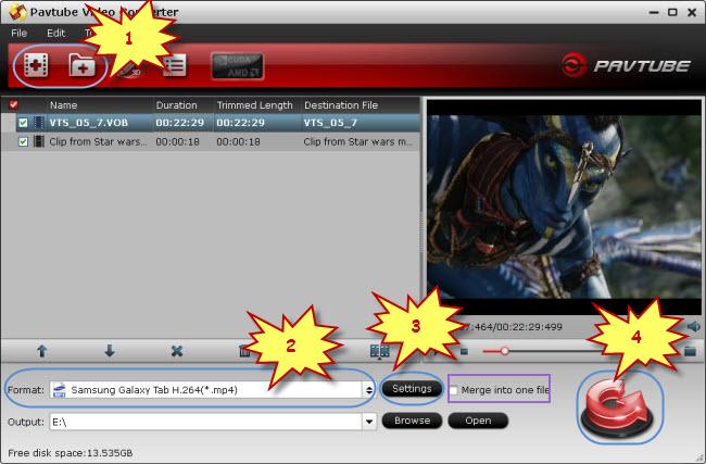 put and play movies on samsung galaxy tab