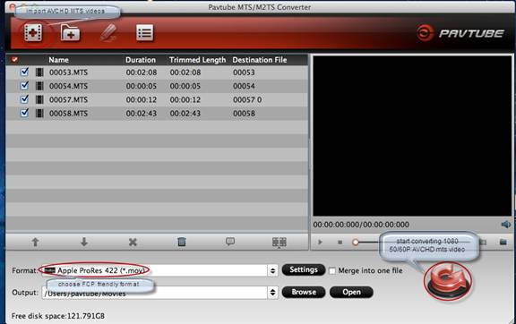 Panasonic 60p Video to FCP Converter