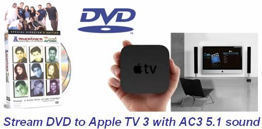 stream dvd to apple tv 3