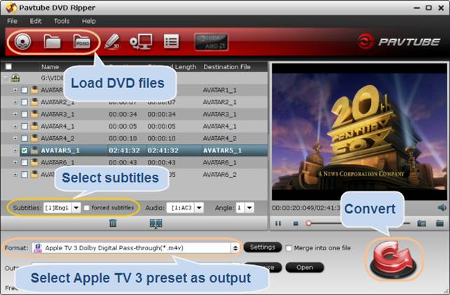 convert dvd to apple tv 3