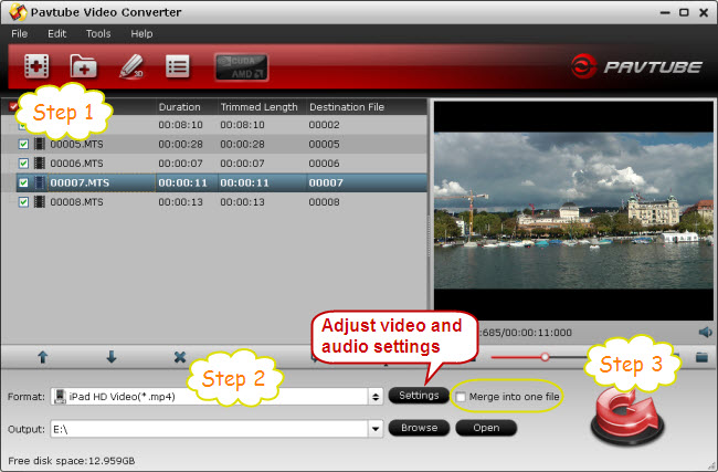 transfer avchd videos to ipad 2