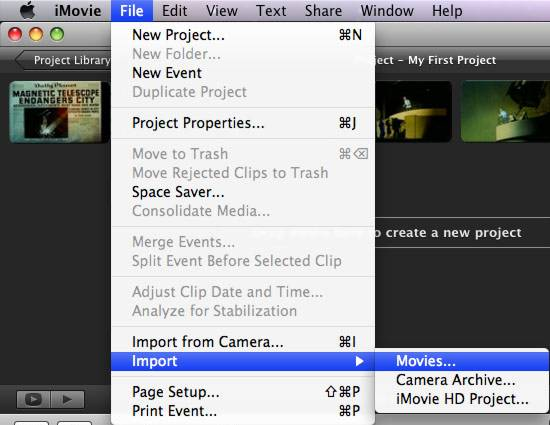 h264 mov to imovie aic