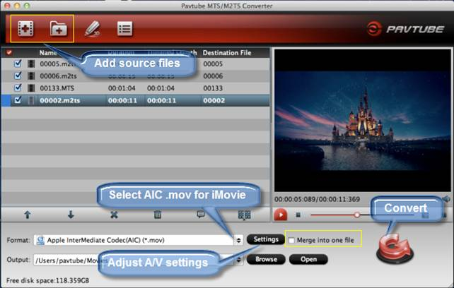 avchd lite to imovie