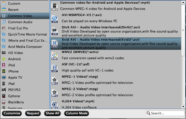 convert avchd to xvid avi on mac