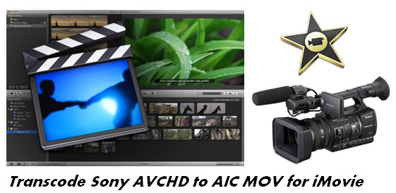 sony avchd to aic mov for imovie