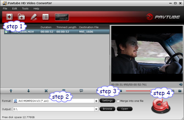 convert Canon mov to hd wmv