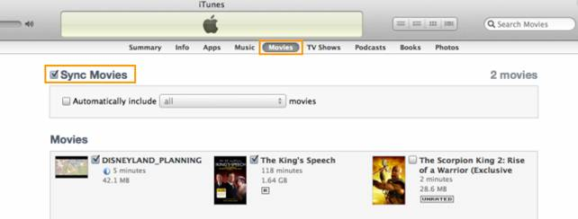 itunes syncing
