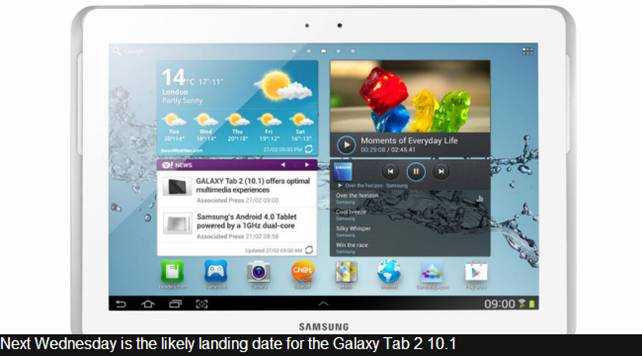 galaxy tab 2 10.1 uk release date