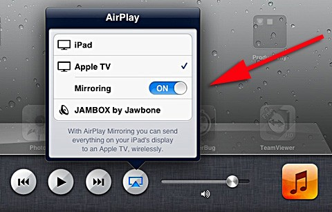 ipad airplay mirroring
