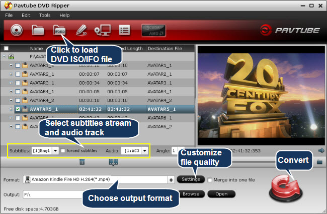 DVD Ripper for Kindle Fire HD - Convert/rip DVD ISO/IFO to MP4 for ...