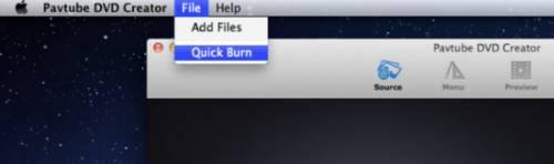 Quick burn DVD folder to DVD on Mac