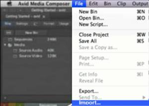 Import media to Avid - Managing your videos, projects, and