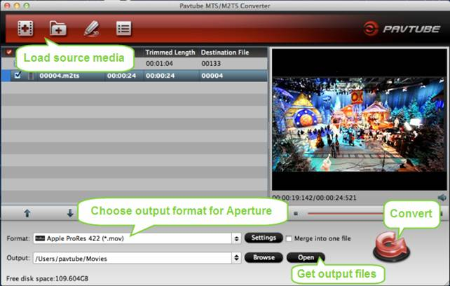 Import AVCHD into Apple Aperture and burn MOV videos from FCP X to DVD
