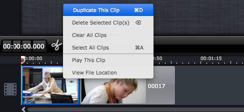 cut clip in imovie
