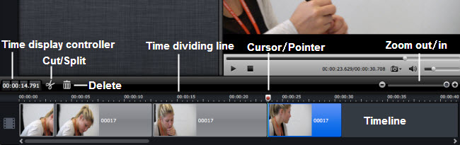 How to do timeline editing and select frames accurately using frame