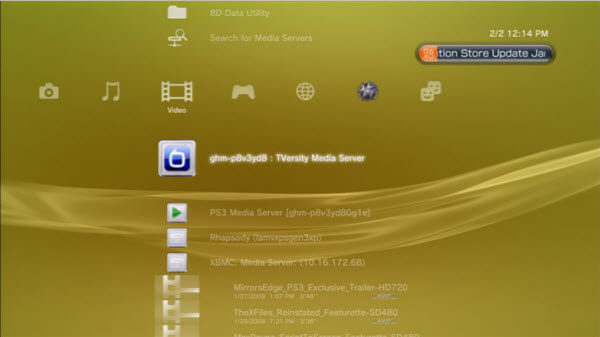 PS3 Streaming server