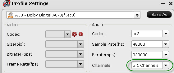 AC3 output