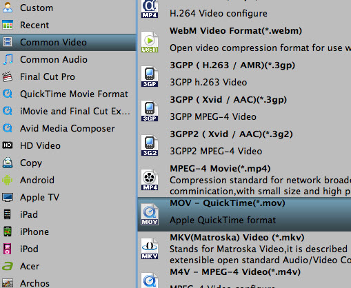 quick time mov profile Transcode Canon Vixia HF S200/S20/S21 MTS to FCP/Quicktime on Mac