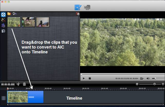 how to move clips into imovie