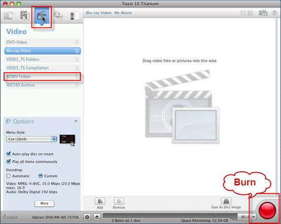 burn a blu-ray on mac