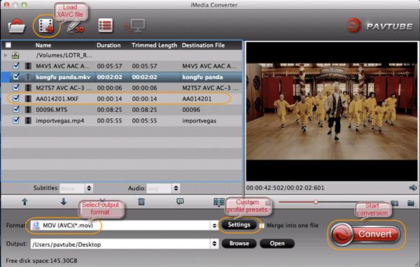 play xavc footage