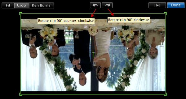 imovie 11 crop and rotate