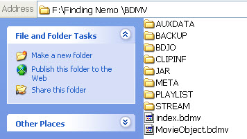 copy entire bd disc to bluray folder