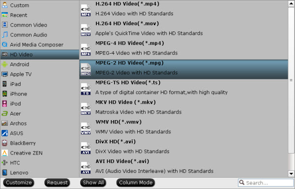convert down p2 mxf files to mpeg