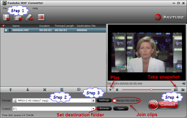 mxf to mpeg converter