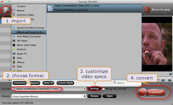 edit Panasonic P2 MXF in iMovie/FCE
