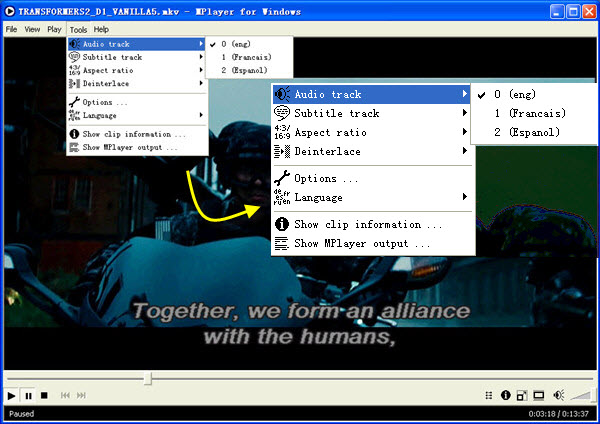 play blu-ray movie in mplayer
