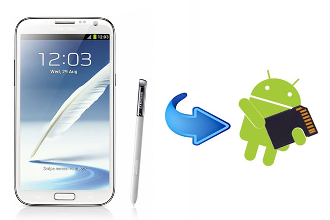 Transfer files from internal memory to SD card for Samsung Galaxy Note