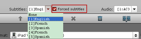 choose forced subtitles