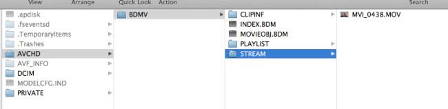how to open avchd files in final cut