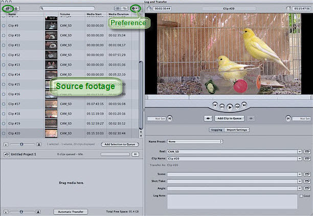 log and transfer avchd in fcp7