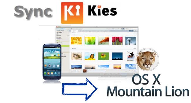 Sync Samsung kies to mac mountain lion