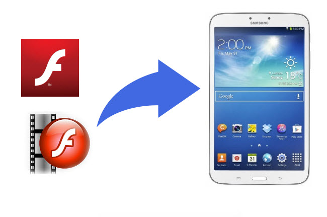 play flash videos on galaxy tab3