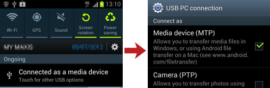 stream videos to samsung galaxy s3