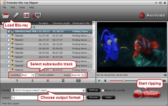 blu-ray to fonepad 7 conversion