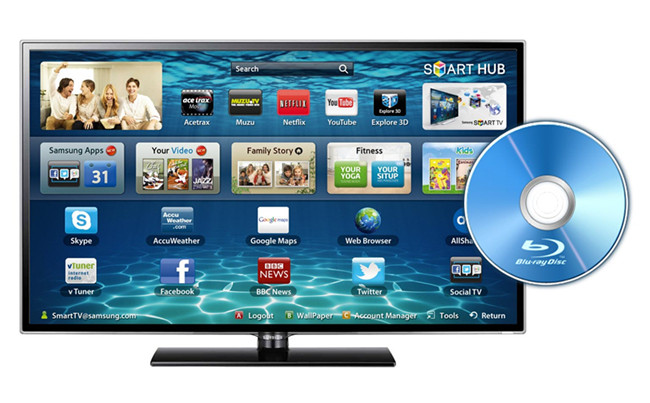 blu ray to samsung smart tv