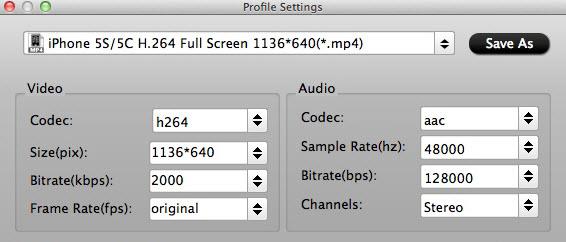 iphone5s 5c profile settings