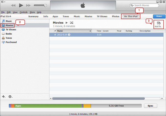 add-movie-file-to-ipad-air-in-itunes